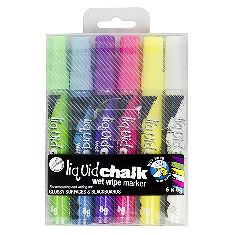 Liquid Chalk Wet Wipe Bullet Tip