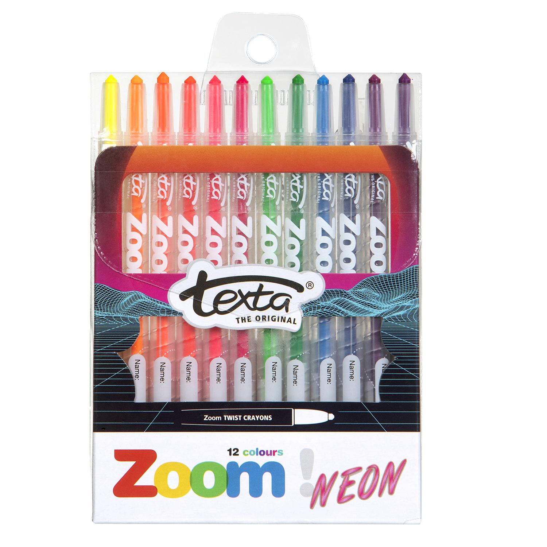Zoom Neon and Metallic Twist Crayons